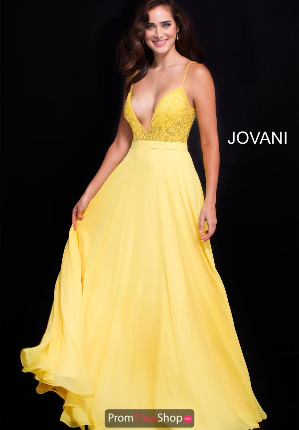 Jovani Long Chiffon Dress 59653