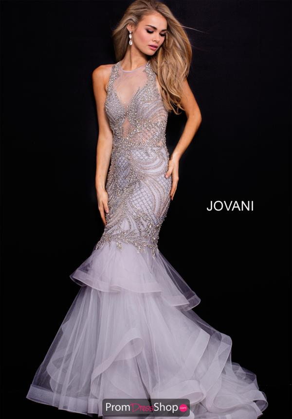 Jovani High Neckline Mermaid Dress 59872