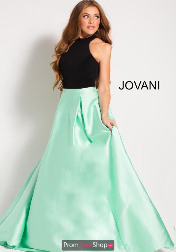 Jovani High Neckline A Line Dress 59906