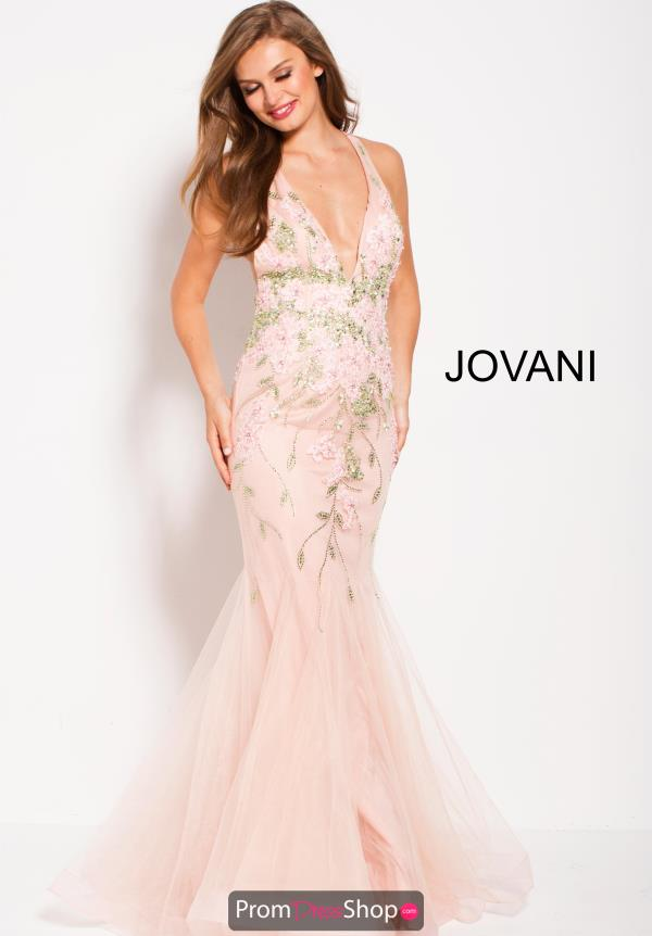 Jovani Pink Fitted Dress 60663