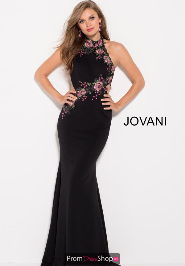 Jovani Fitted Black Dress 61154