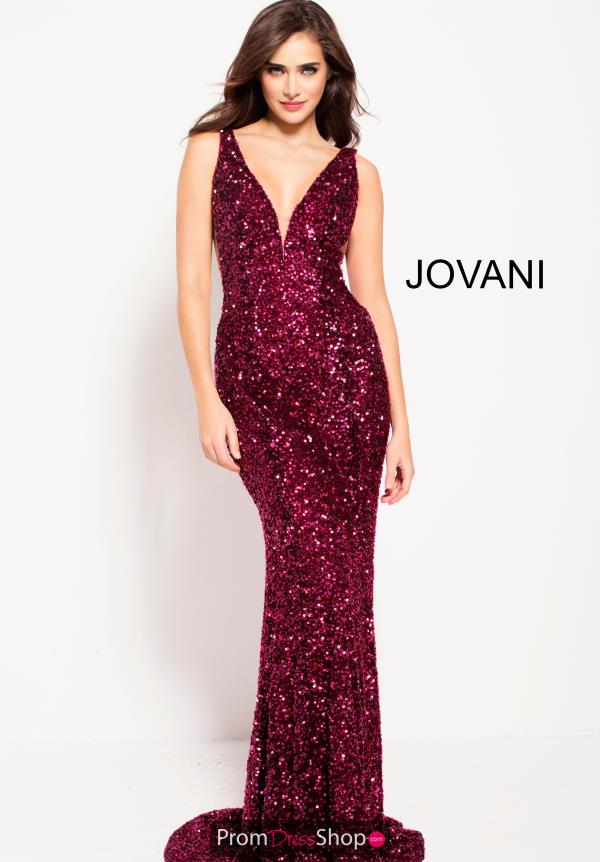 Jovani Sexy V- Neckline Dress 61186