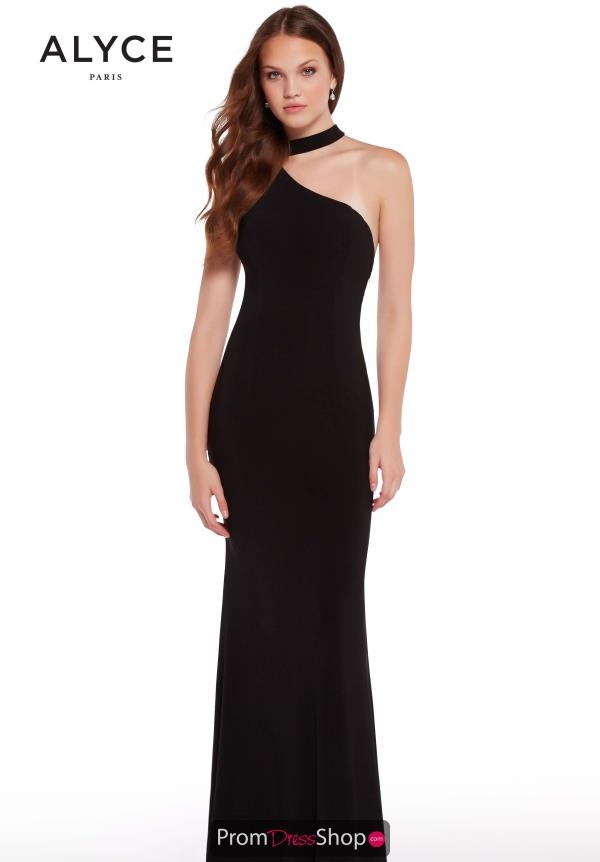 Alyce Paris One Shoulder Fitted Dress 59998