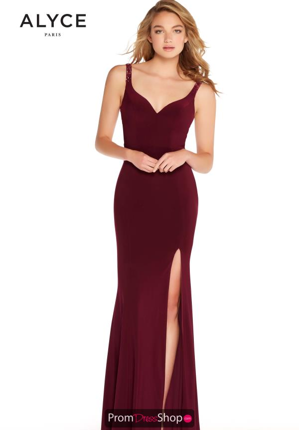 Alyce Paris Beaded Fitted Dress 60004
