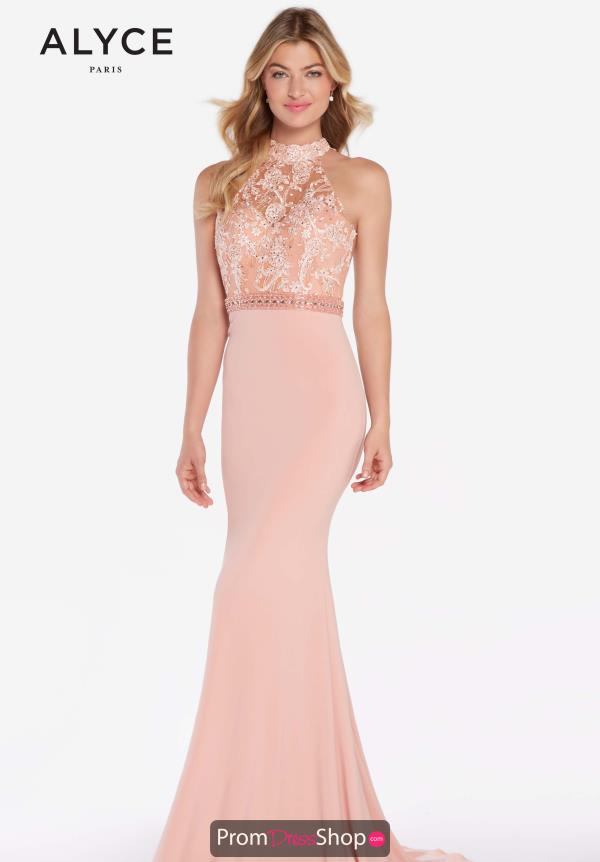 Alyce Paris Jersey Beaded Dress 60024
