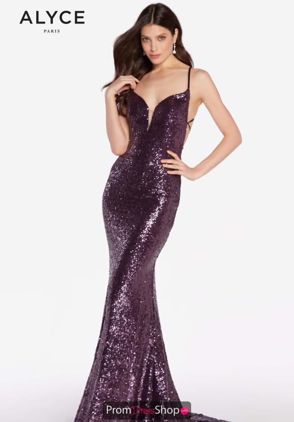 Alyce Paris Sexy Back Fitted Dress 60032