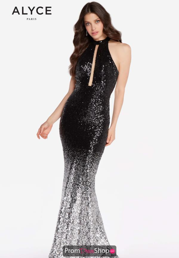Alyce Paris Fitted Sequins Dress 60034B