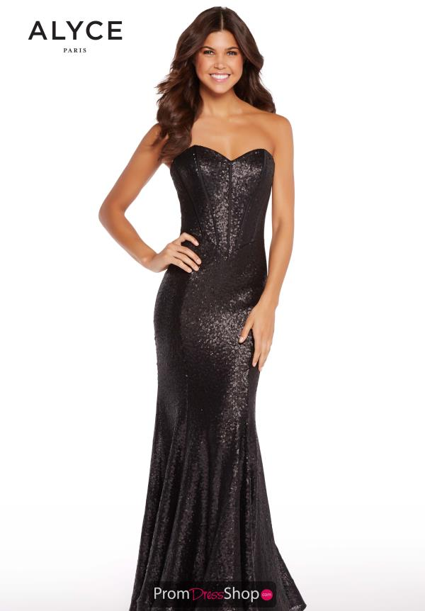 Alyce Paris Corset Sequins Dress 60035B