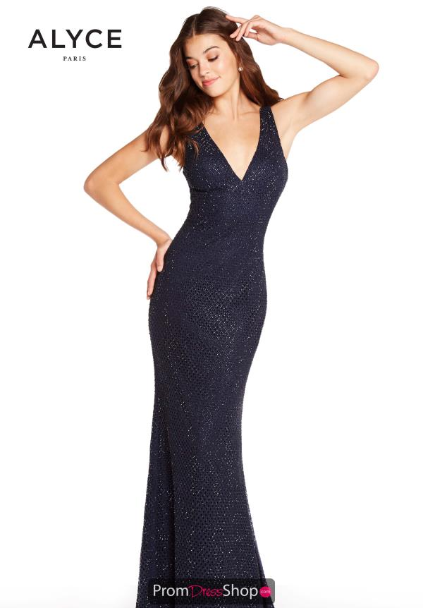 Alyce Paris Beaded Fitted Dress 60156