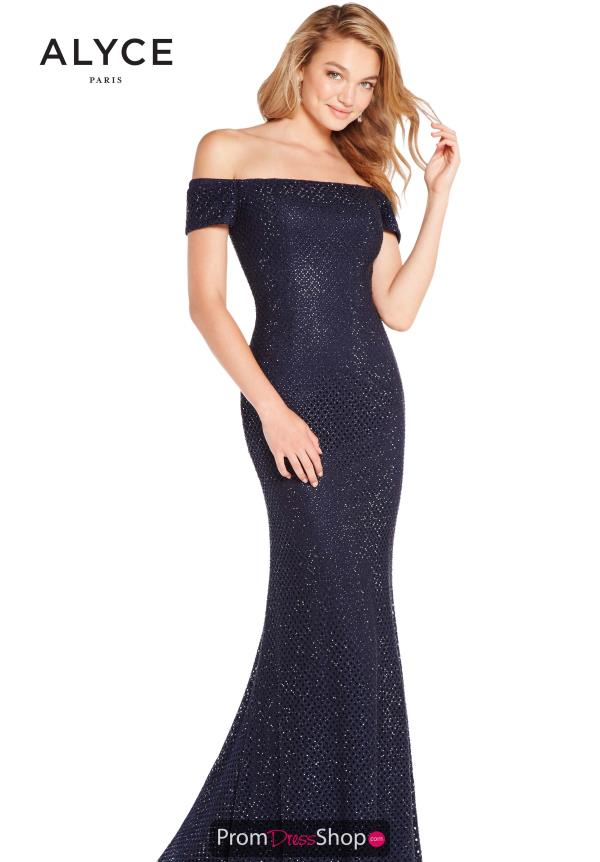 Alyce Paris Fitted Beaded Dress 60157