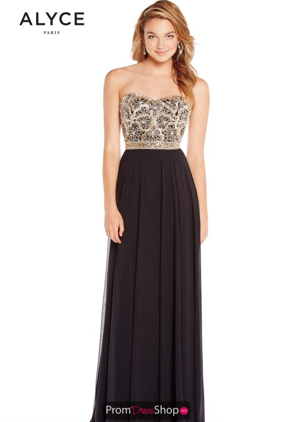 Alyce Paris Full Figured Strapless Dress 60191