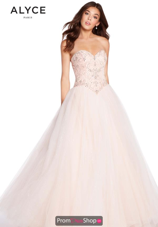 Alyce Paris Tulle Beaded Dress 60202