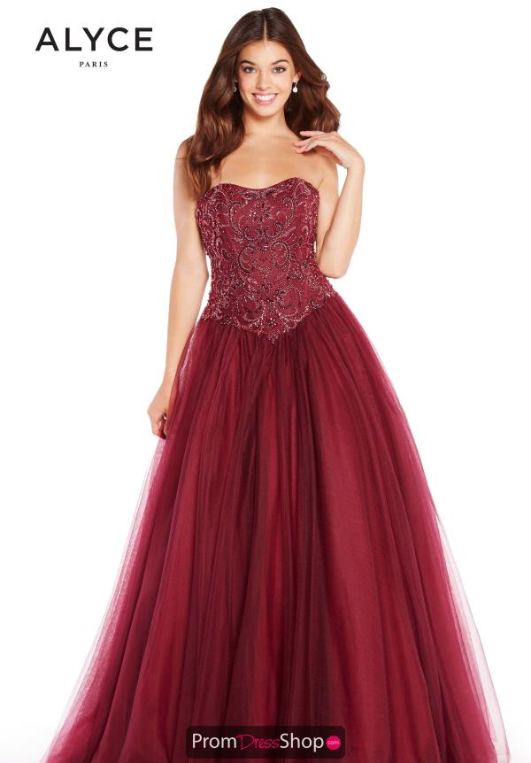 Alyce Paris Ball Gown Strapless Dress 60203