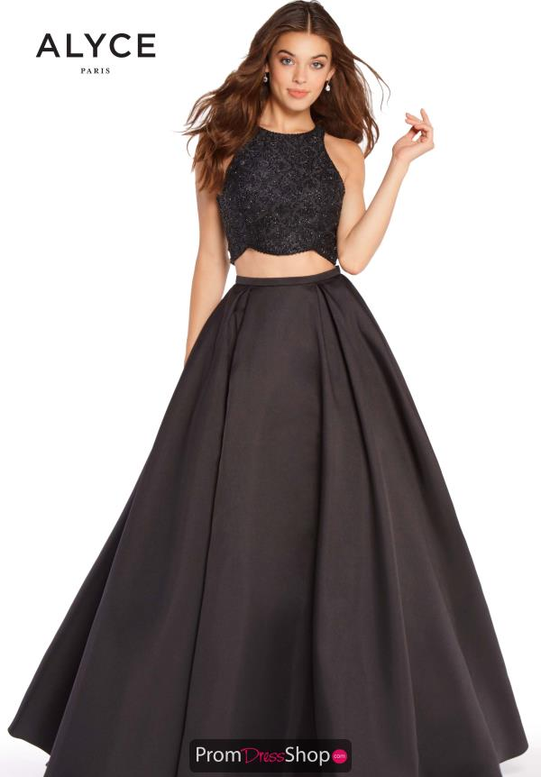 Alyce Paris Two Piece Long Dress 60222