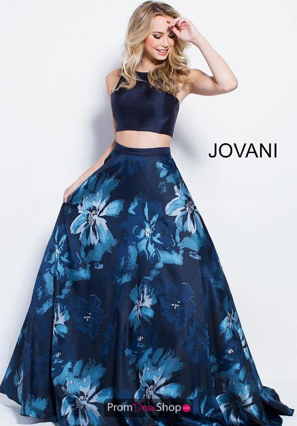 Jovani High Neckline A Line Dress 58610