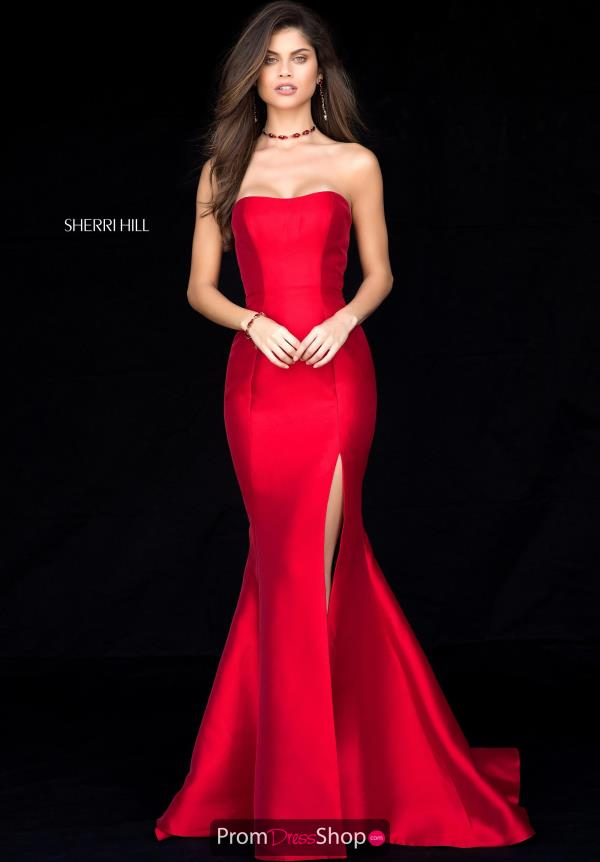 Sherri Hill Taffeta Fitted Dress 51671