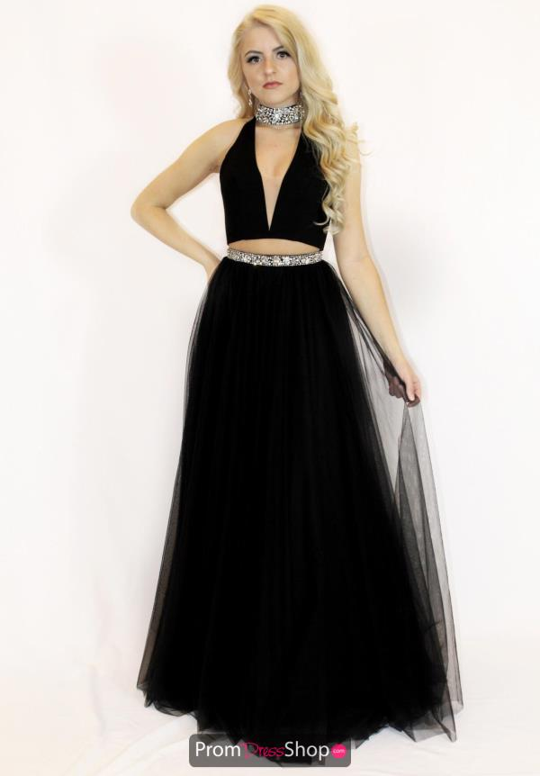Sherri Hill A Line V-Neck Dress 51780