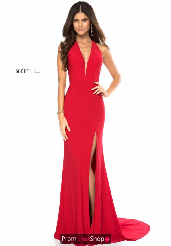 Sherri Hill V-Neck Fitted Dress 51806