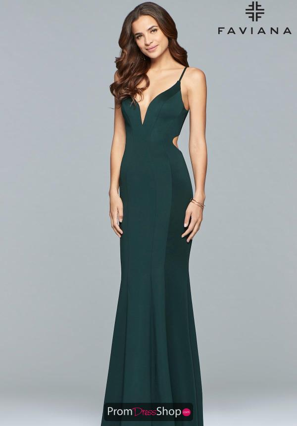 Faviana V-Neck Fitted Dress 10071