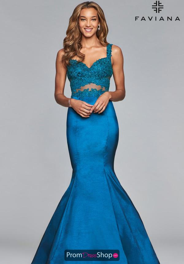Faviana Sweetheart Beaded Dress 10081