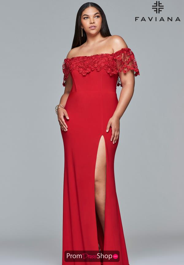 Faviana Lace Full Figured Dress 9422
