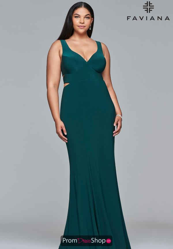 Faviana Fitted Jersey Dress 9429