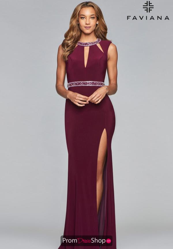 Faviana Cap Sleeve Fitted Dress S10009