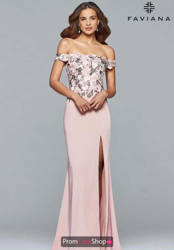 Faviana Fitted Beaded Dress S10021