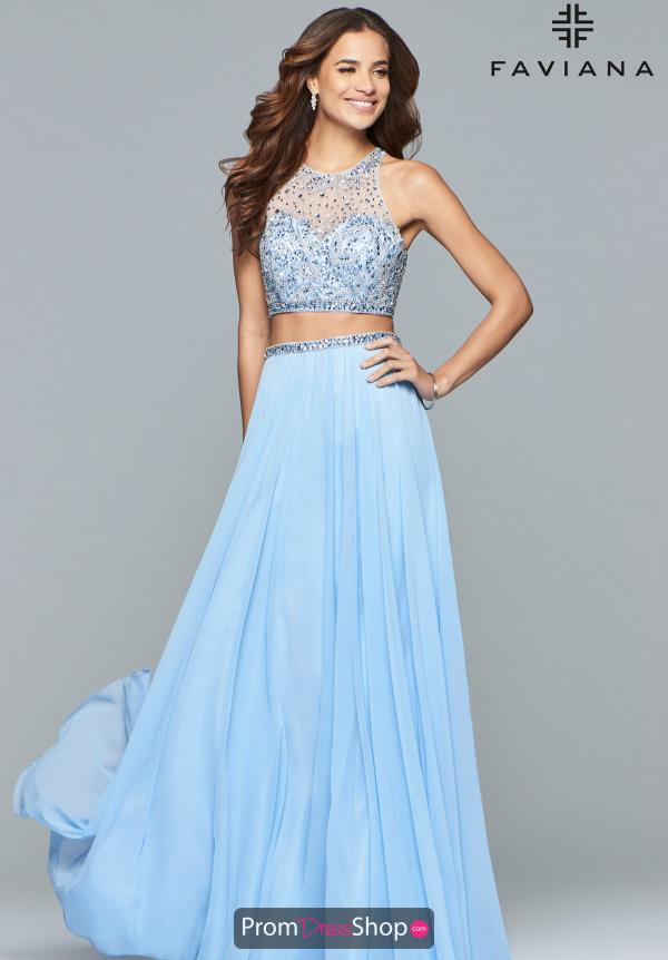 Faviana Beaded A Line Dress S10061