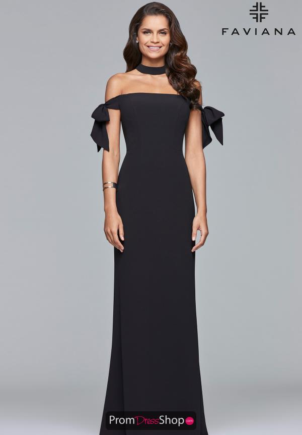 Faviana Cap Sleeve Fitted Dress S10075