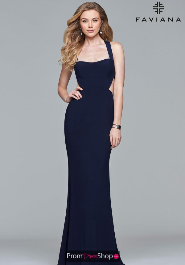 Faviana Sexy Open Back Dress S10077