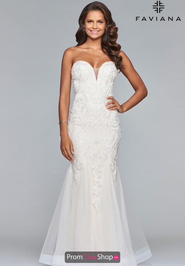 Faviana Beaded Tulle Dress S10084