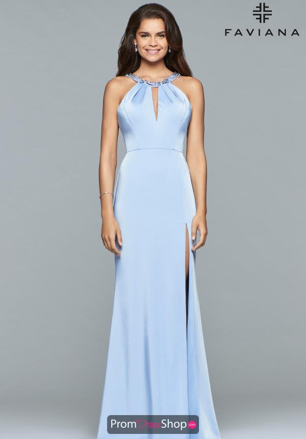 Faviana High Neckline Fitted Dress S10089