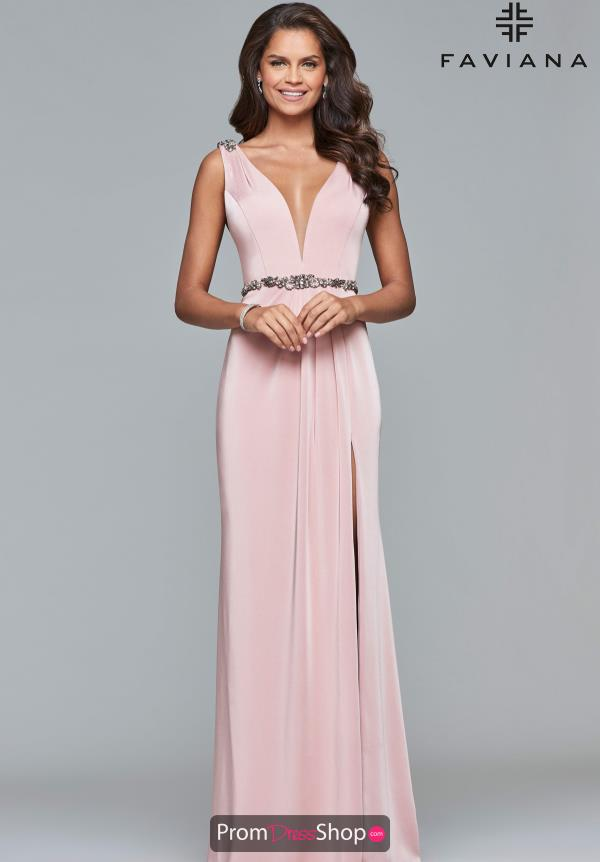 Faviana Beaded Long Dress S10090