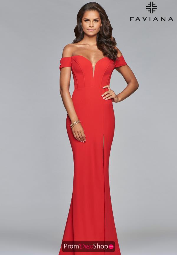 Faviana Cap Sleeve Fitted Dress S10093