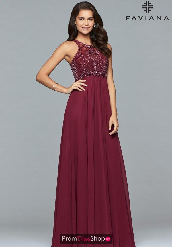 Faviana Long A Line Dress S7989