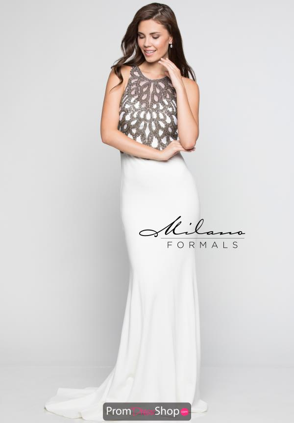 Milano Formals Fitted Jersey Dress E2229