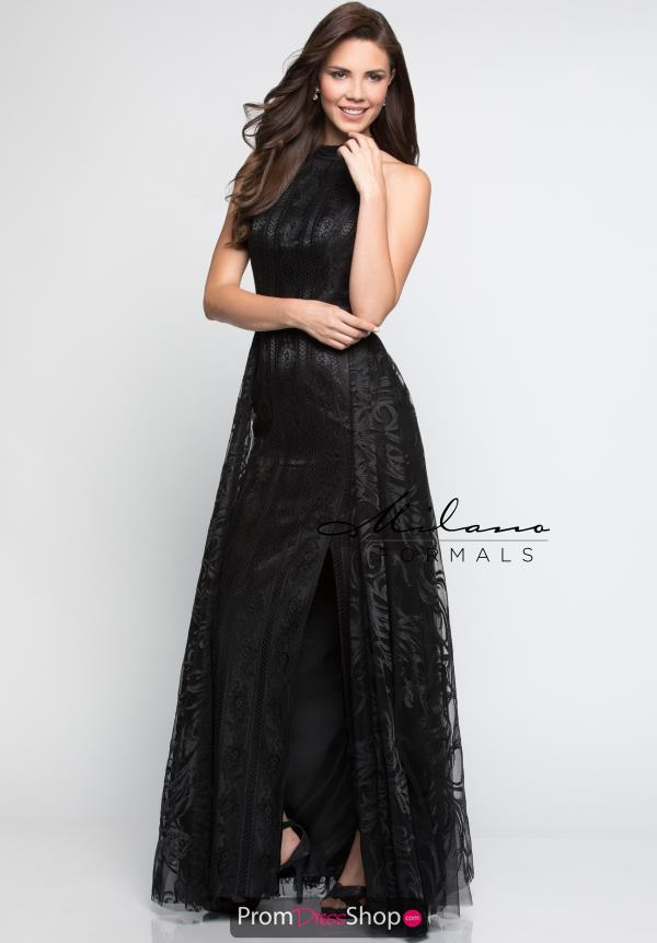 Milano Formals Long A Line Dress E2241