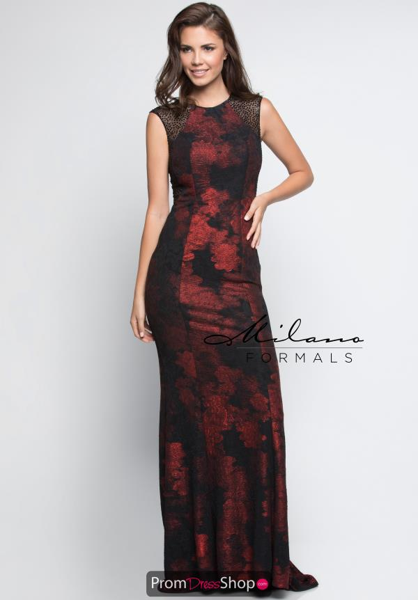 Milano Formals High Neckline Fitted Dress E2327