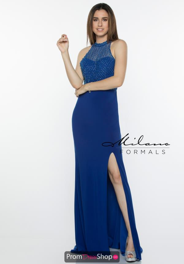 Milano Formals Long Jersey Dress E2335