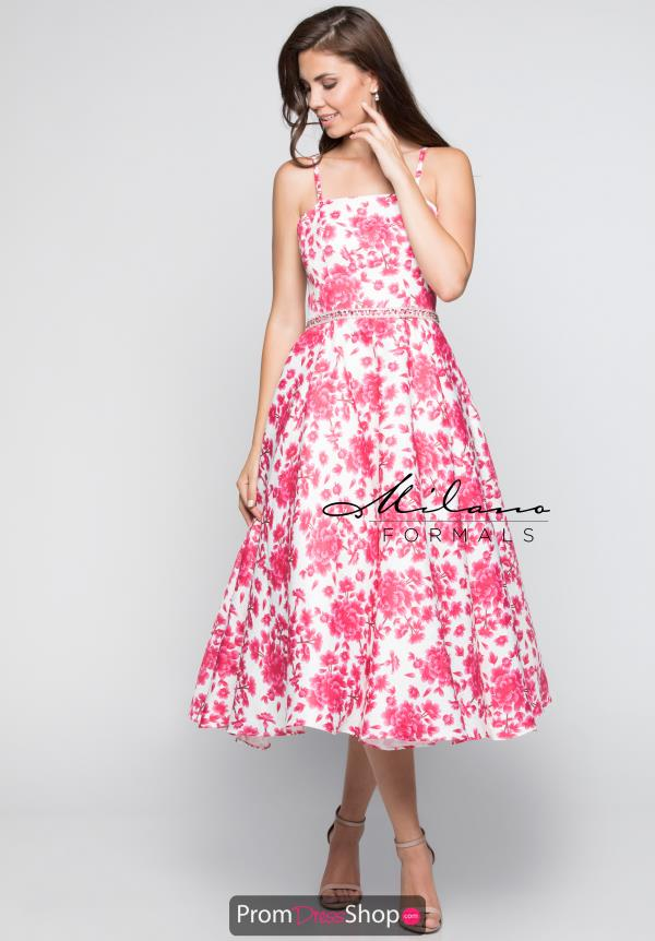 Milano Formals Pink A Line Dress E2340