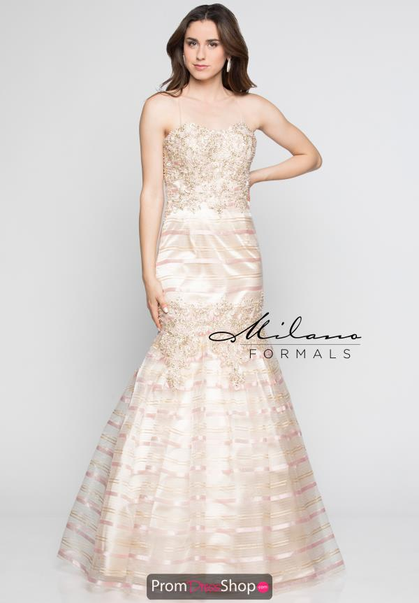 Milano Formals Strapless Fitted Dress E2346