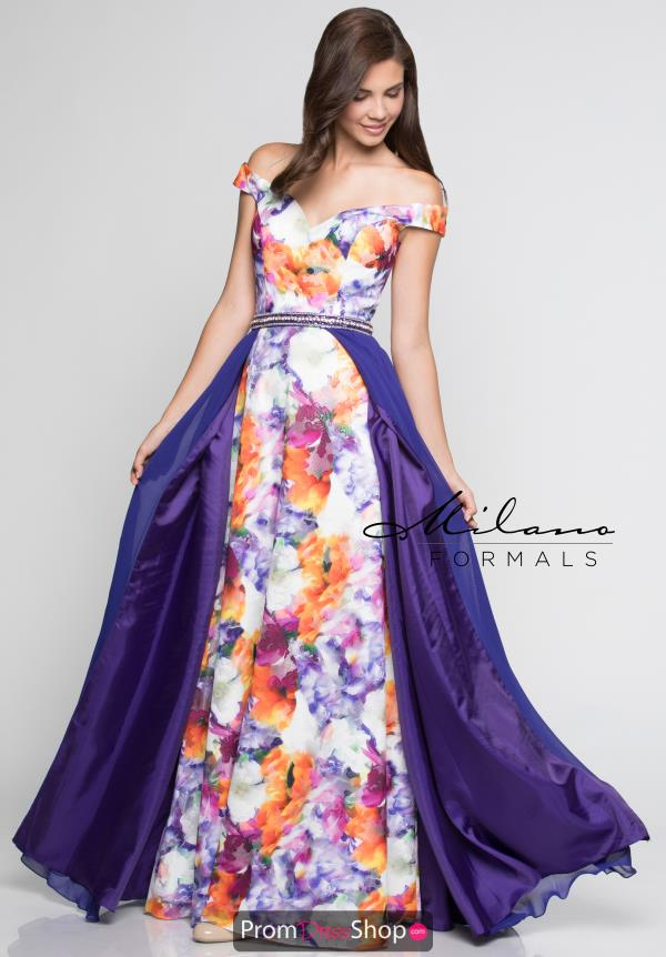 Milano Formals Fitted Purple Dress E2360