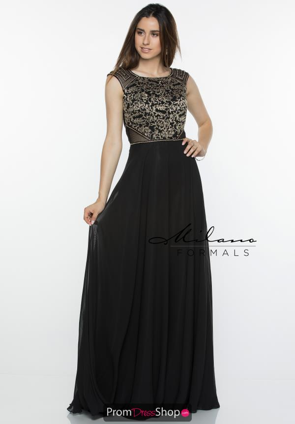 Milano Formals Long A Line Dress E2385