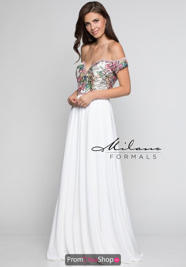 Milano Formals Long A Line Dress E2394