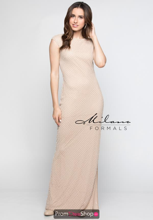 Milano Formals Long Fitted Dress E2410