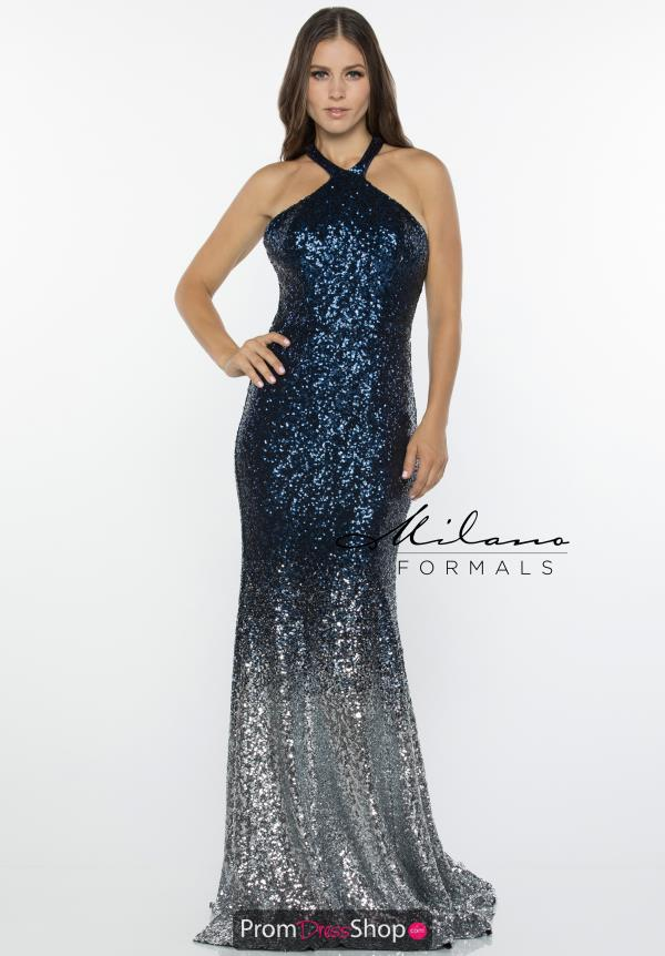 Milano Formals Long Fitted Dress E2427