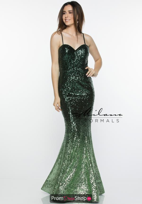 Milano Formals Fitted Sequins Dress E2432