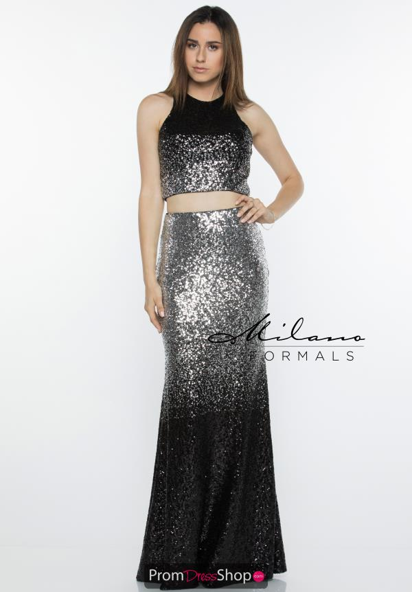 Milano Formals Two Piece Sequins Dress E2460