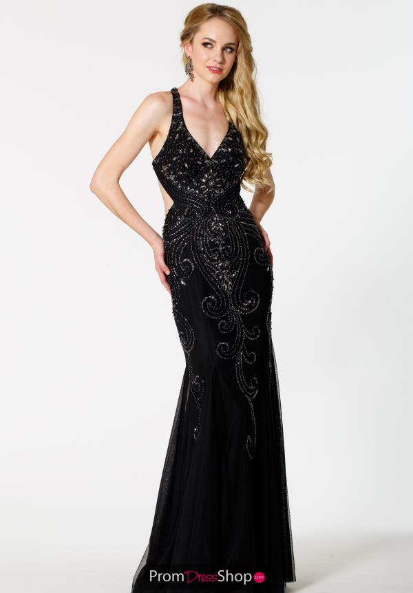 Sean Fitted Open Back Long Dress 50708